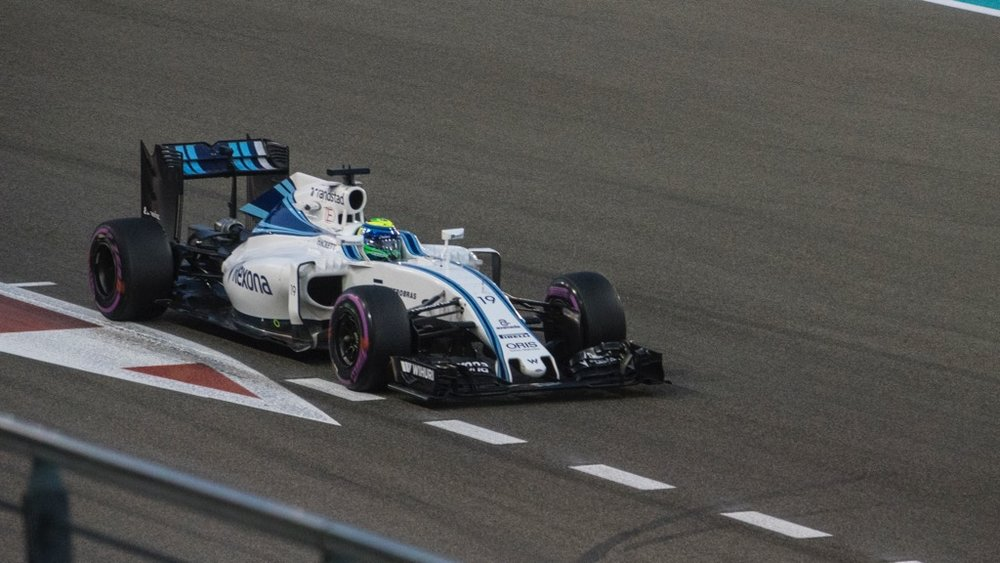 Felipe Massa in the #19 Williams car.