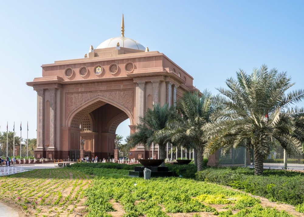 The front gate ot the Emirates Palace. Unreal...