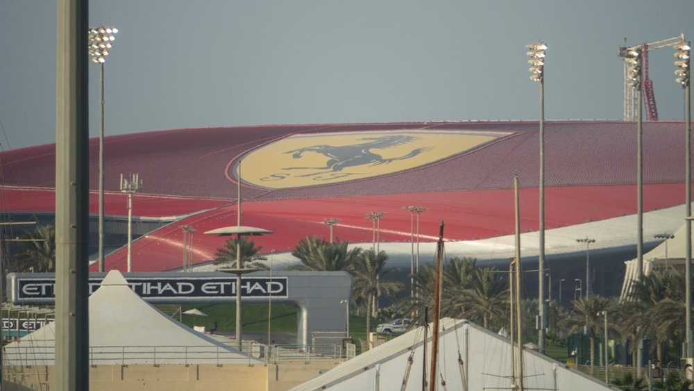 Close up of Ferrari World.