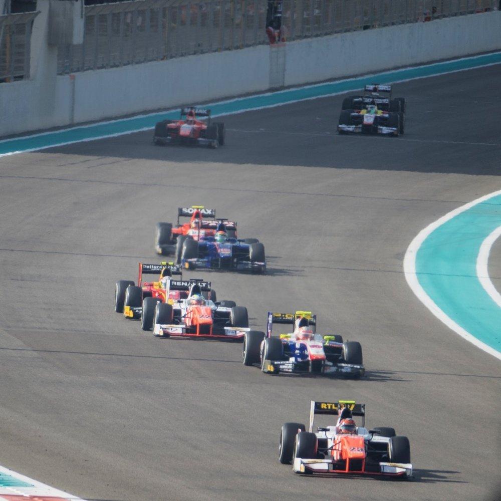 The GP2 action was underway!