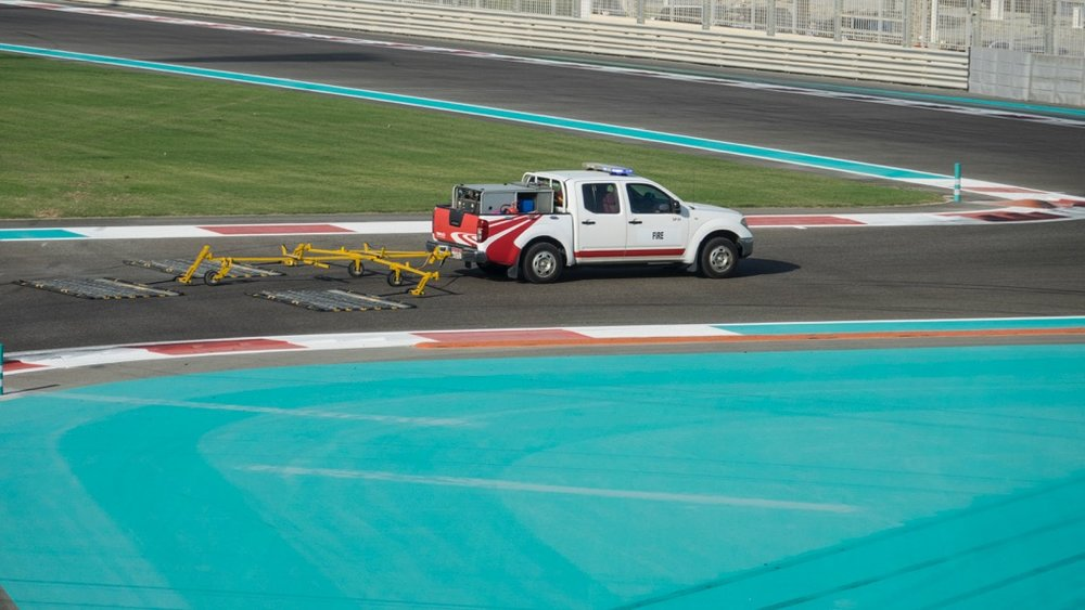 the Formula 1 equivalent of a zamboni, getting the track ready for the big race.