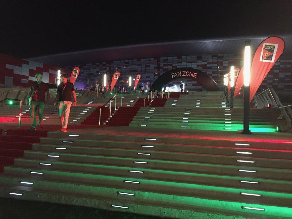 The back entrance to Ferrari World.