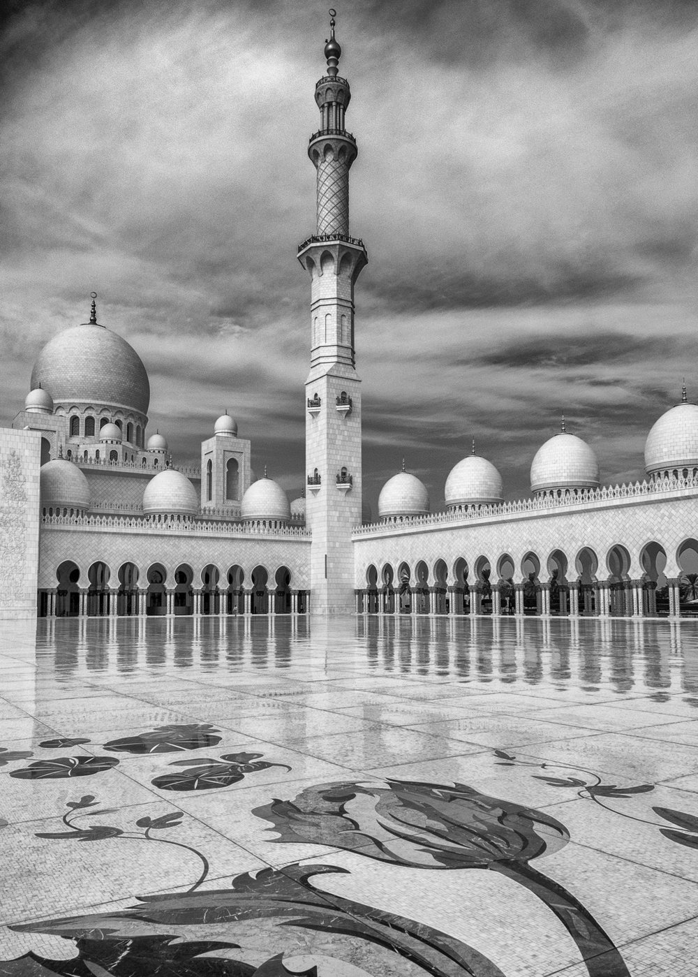 more mosque bw