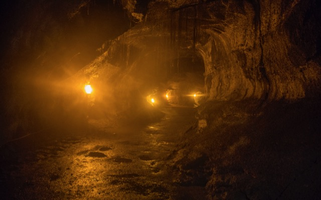 The inside of the lava tube was a bit eerie