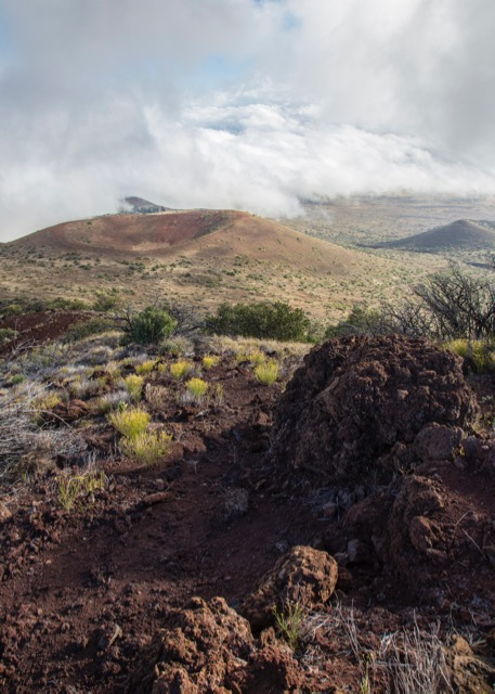 A view down from our short hike on Mauna Kea, near the visitor center