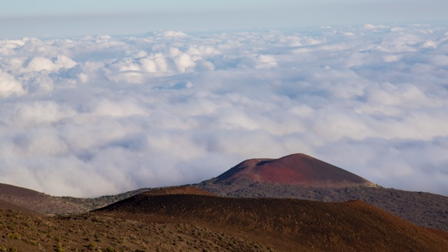 Not long after we climbed from the visitor center, we were above the clouds