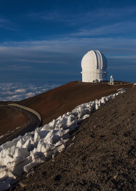 One of the many observatories at the summit