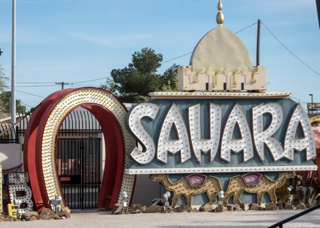 The sign from the Sahara Casino