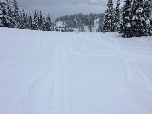 There was lots of fresh snow to start the day off well.