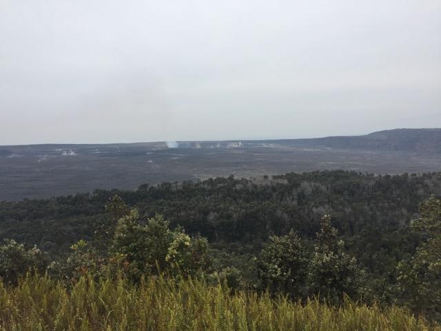 Some steam rising form the crater on our last day on the Big Island.