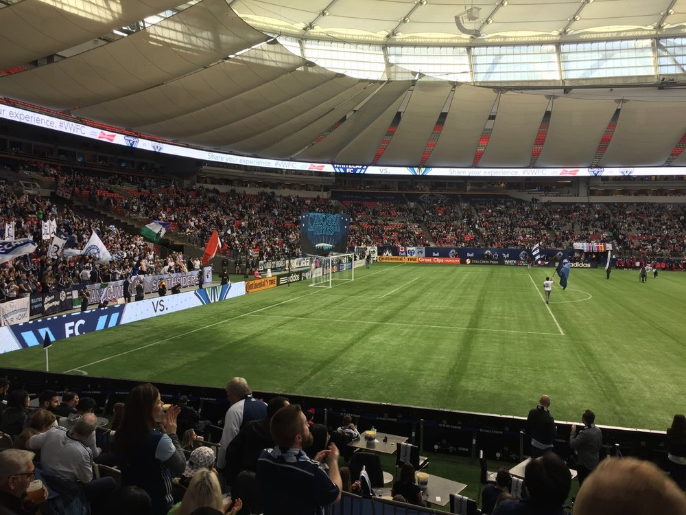 Whitecaps game against league champs Seattle. Amazing game, and we came away with the win!