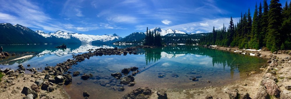 Our ultimate goal, the beautiful Garibaldi Lake in the Whistler backcountry.