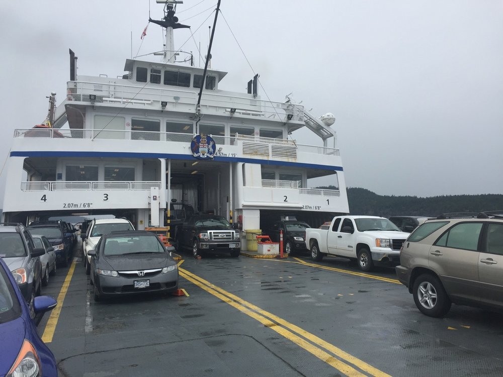 The smaller ferry to Saturna