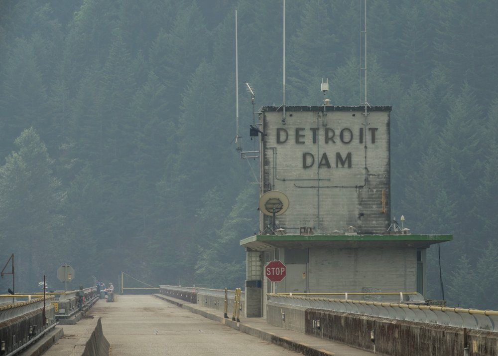 The Detroit Dam, built in the late 50s
