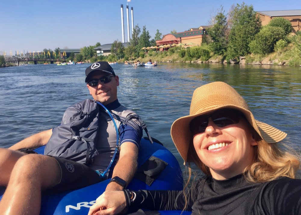 Floating on the Deschutes River on a hot, sunny afternoon. What could be more perfect?