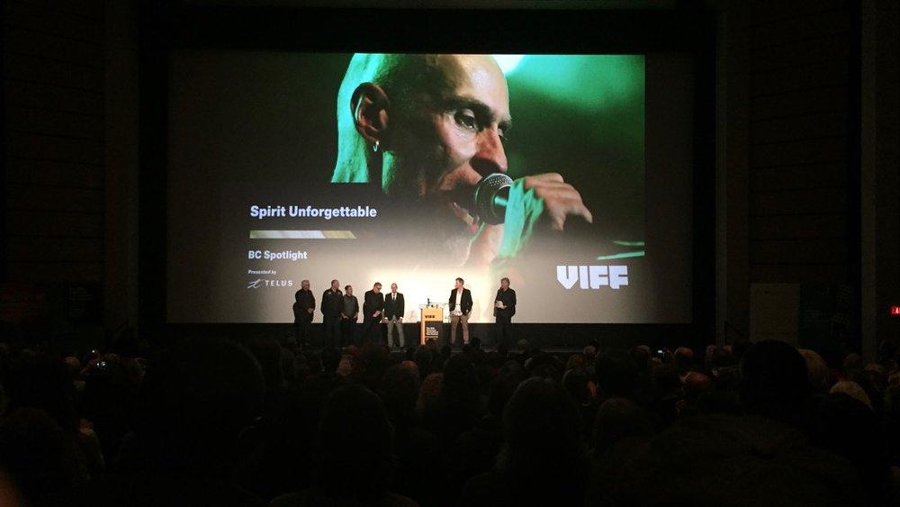 Spirit Unforgettable documentary at the VIFF