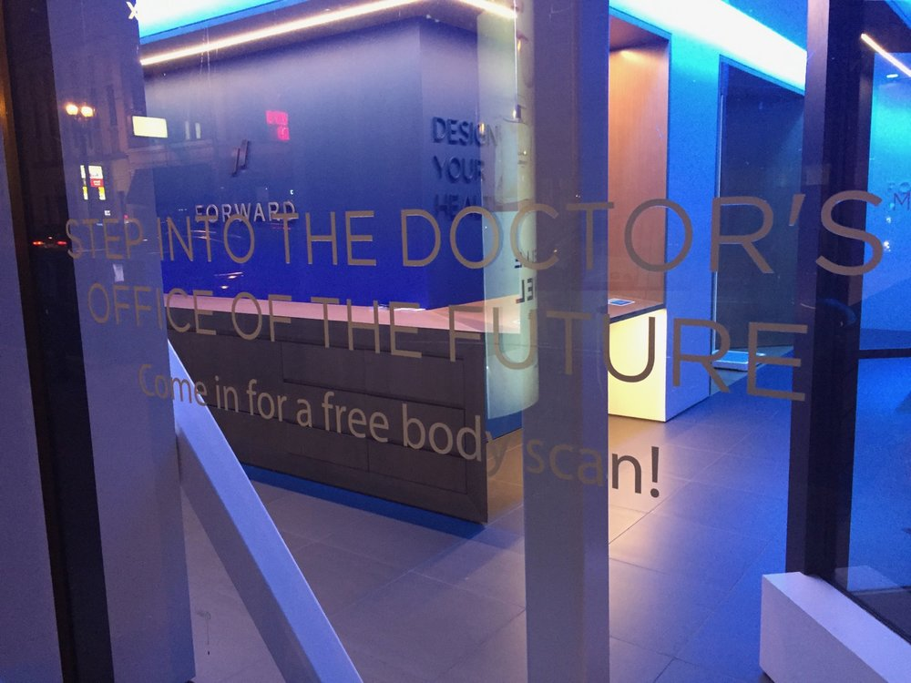 Totally crazy - a doctor's office offering a free body scan - whatever that is.