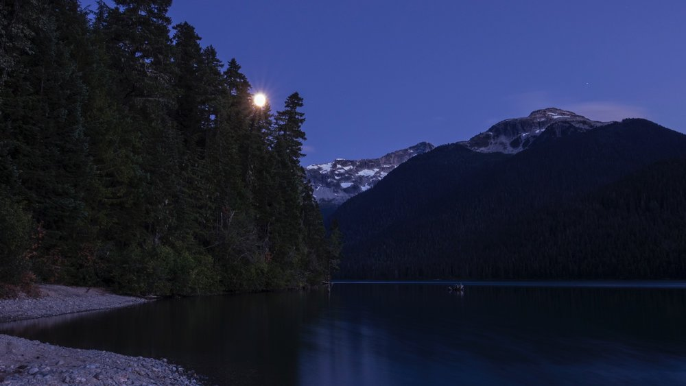 Moonrise over the Cheakamus Lake