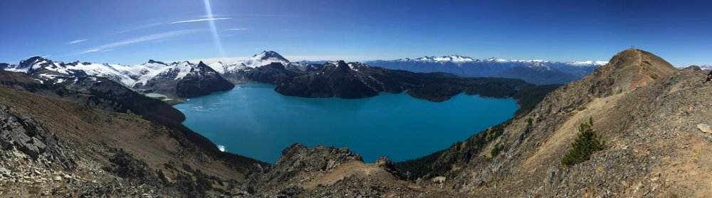 The full view of Garibaldi Lake.