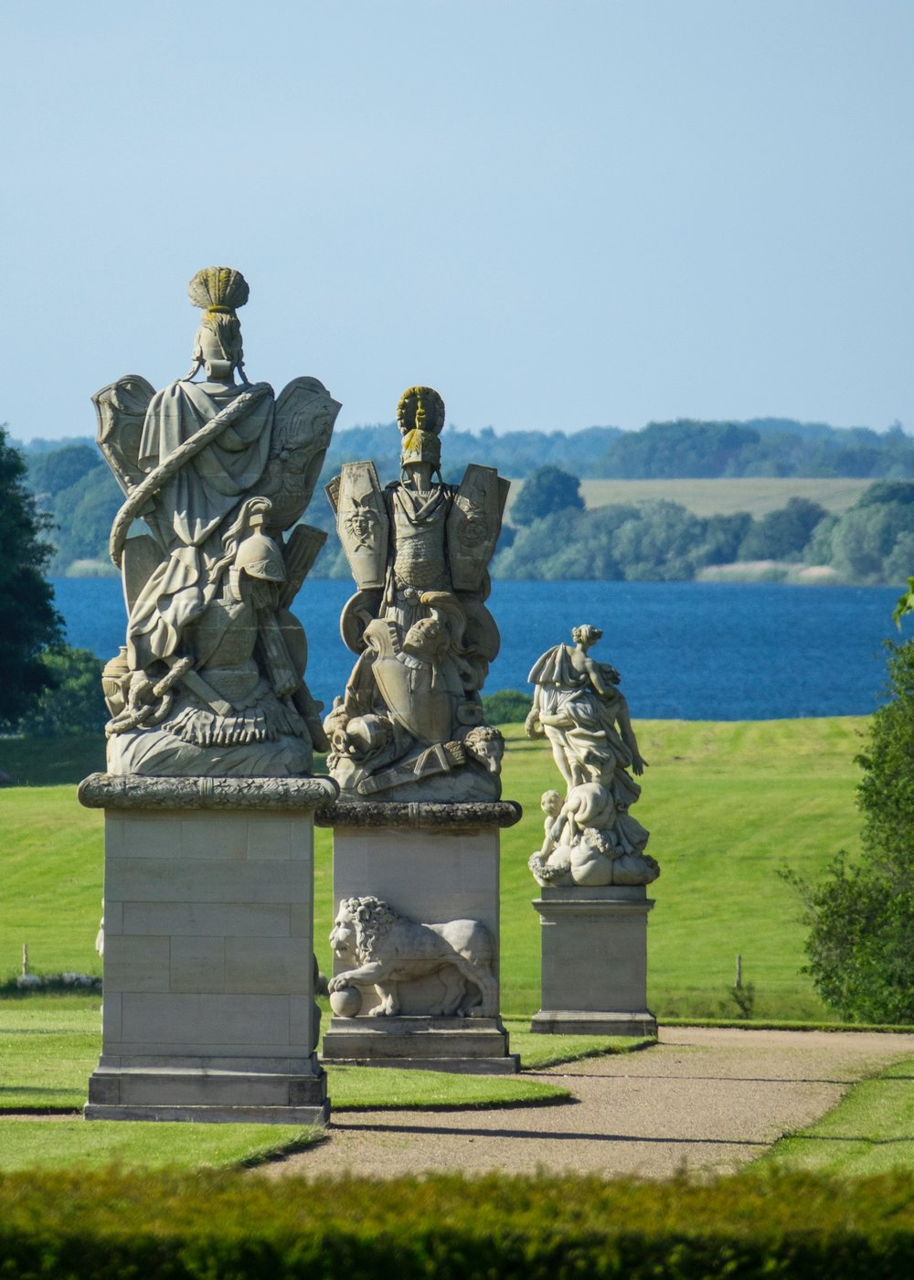 Some of the art work around the grounds of the Fredensborg Palace