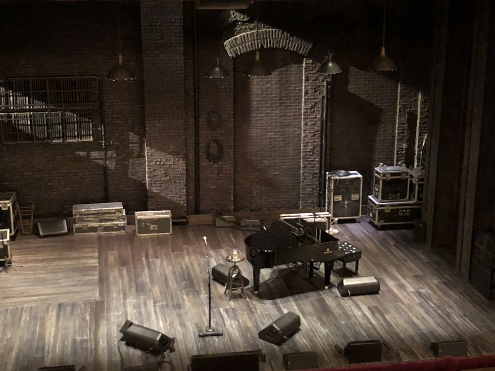 The stage set for Springsteen on Broadway.
