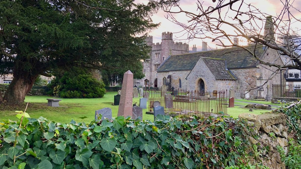 The church and the graveyard