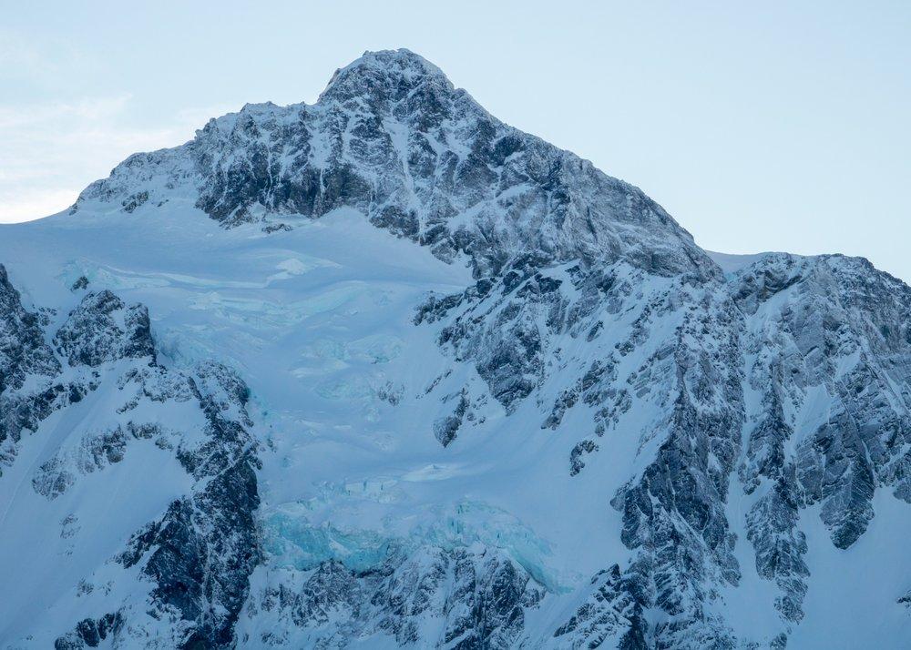 The glacier on Mount Shuksan.