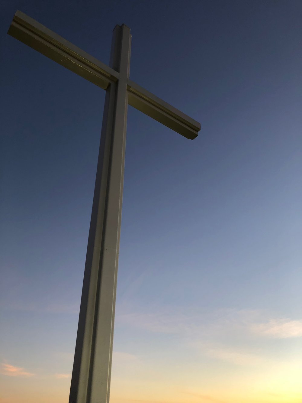 The cross on top of Battle Cross Mountain.