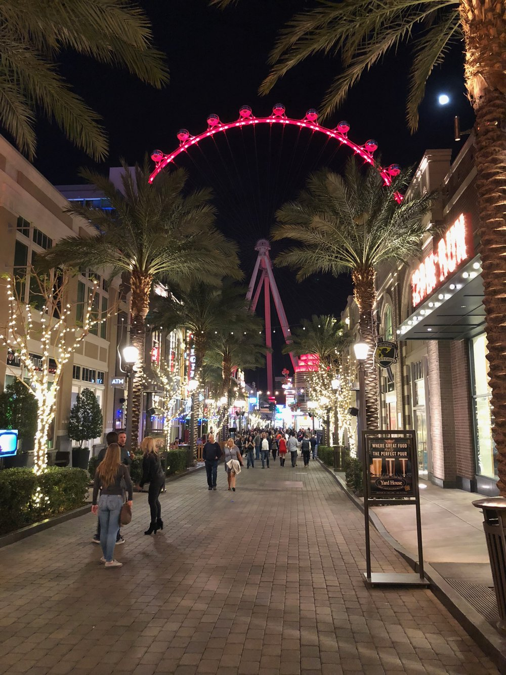 Heading down to the Linq