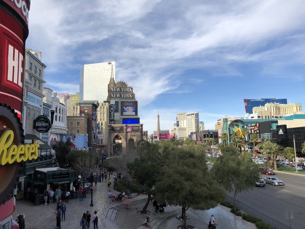 A view up the Strip