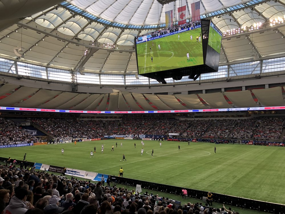 Whitecaps home opener.