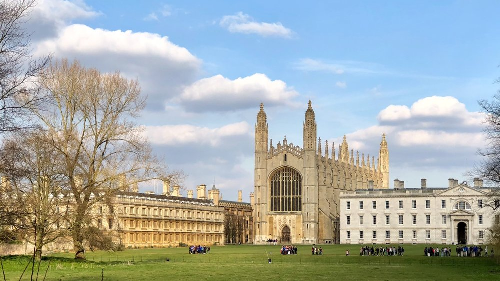 The view across to King's College Chapel in Cambridge