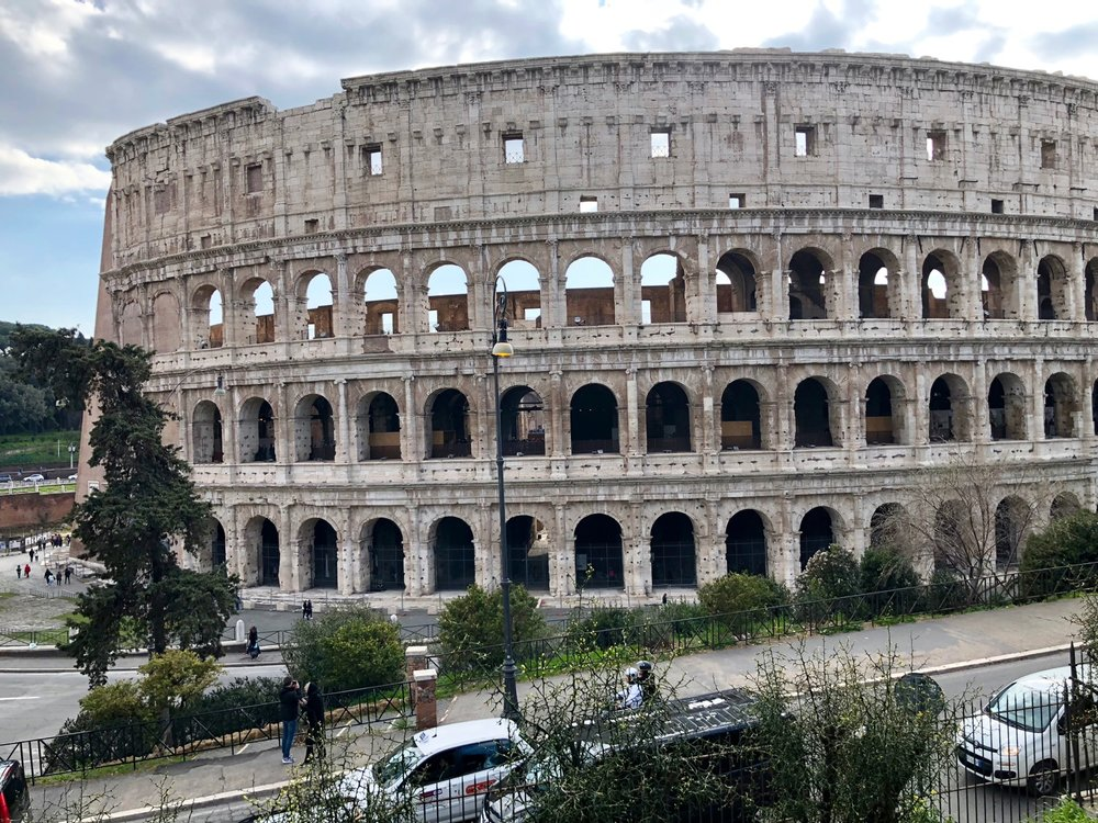 The Colosseum is no less impressive during the day.
