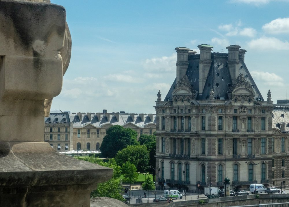 The Louvre, across the river.