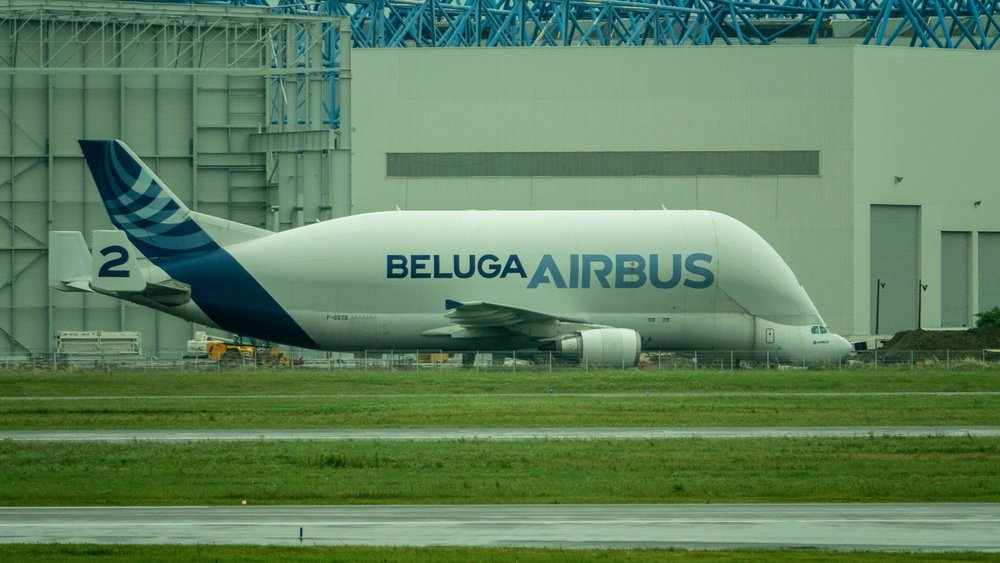 The Beluga aircraft is used to carry parts for assembling the Airbus A380 here in Toulouse. Such a cool plane…