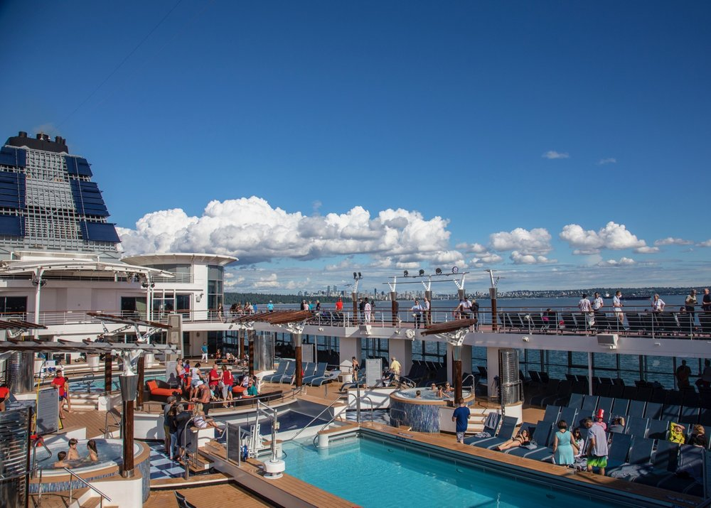 A nice view of the pool area as we set sail out of Vancouver!