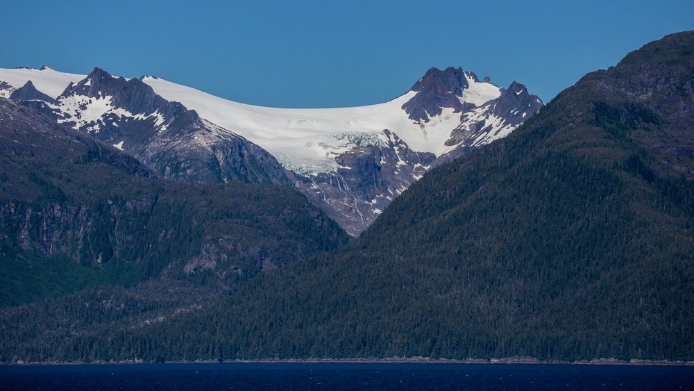 And in places, still some small glaciers left on the mountains.