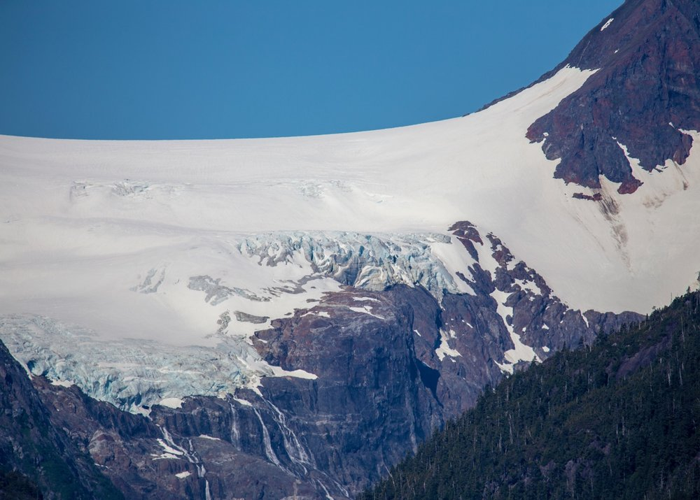 Glacier close up.