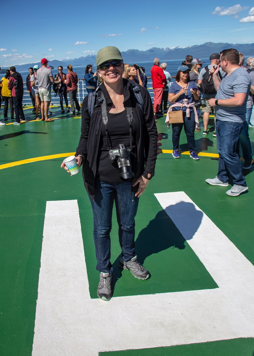 Hanging out on the helipad.