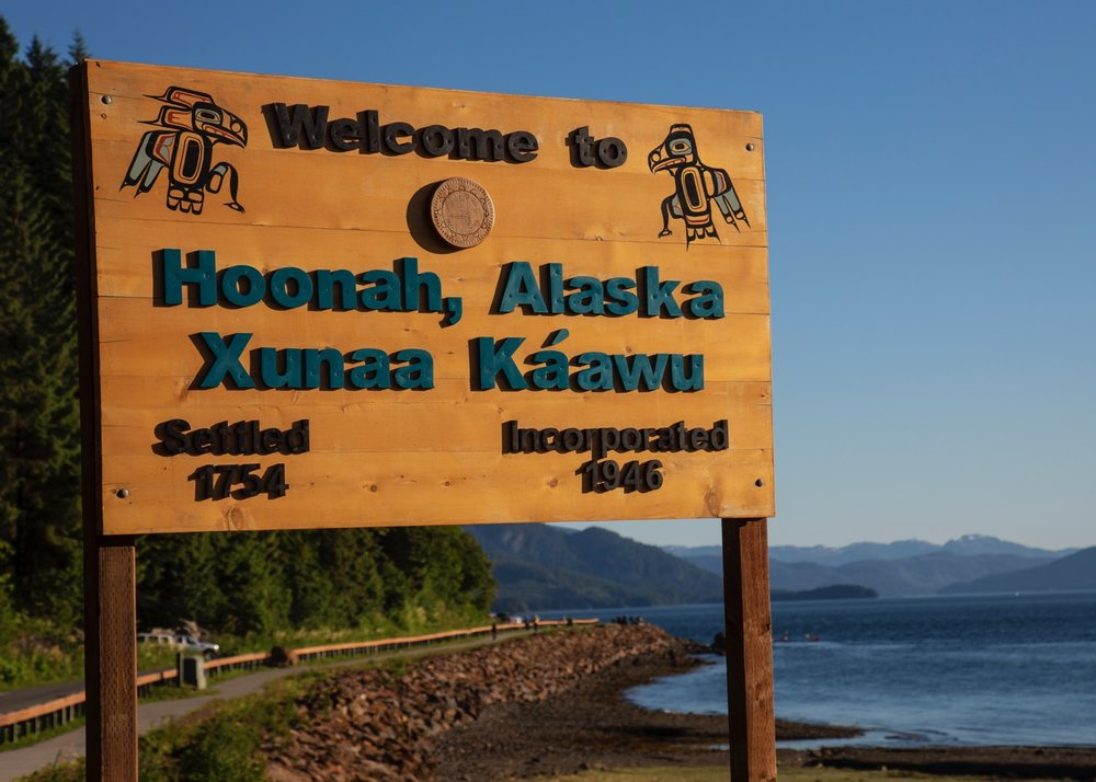 The actual town, where Icy Strait Point is located.