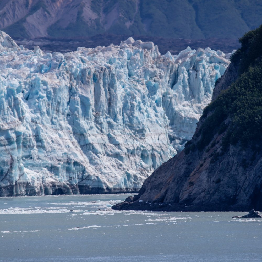 You could see where the glacier was at risk of closing off Russell Fjord.