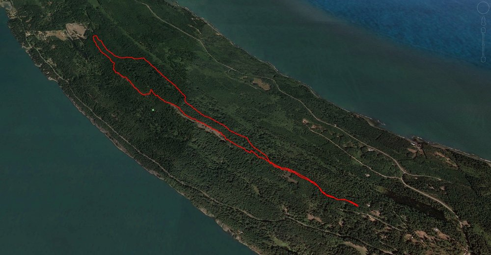 The GPS trail of the hike. A little over 8 km in total, with some amazing views.