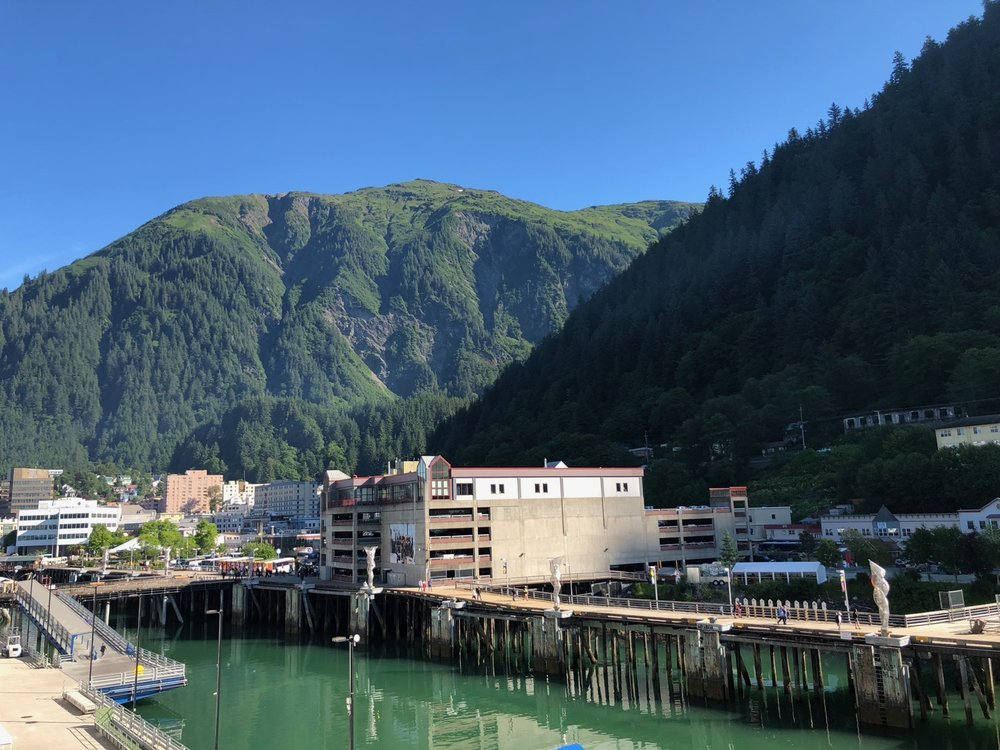 A view of downtown Juneau as we came off the ship.
