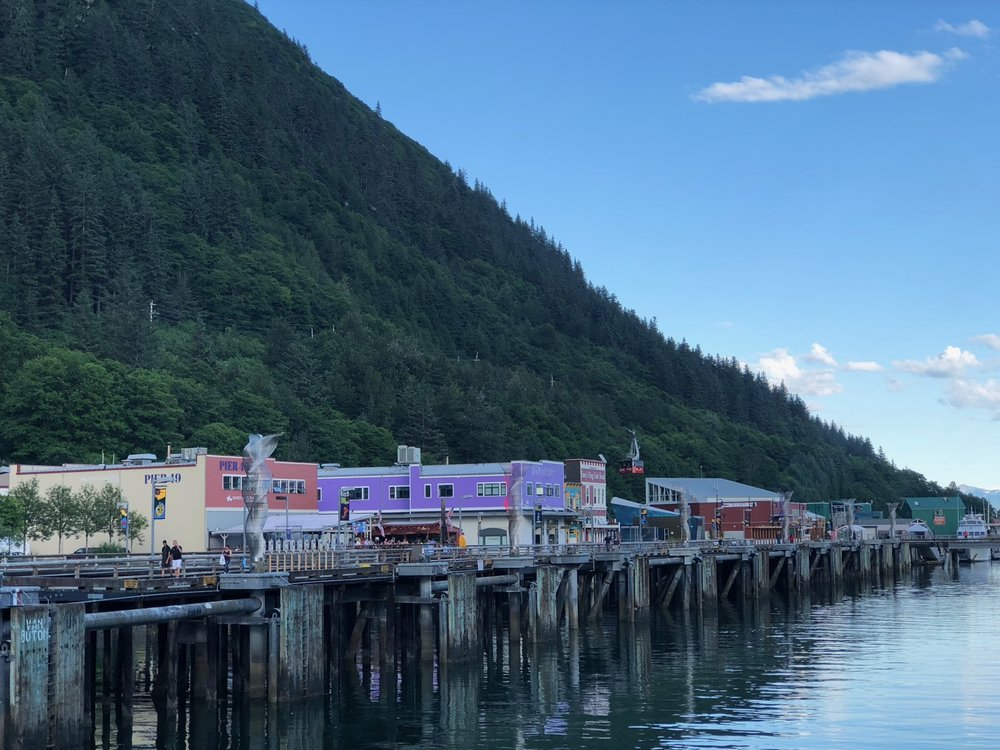 One last view of Juneau, or at least the section of it near the ships.