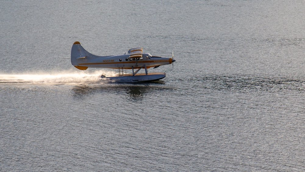 One of the float planes in the harbour.