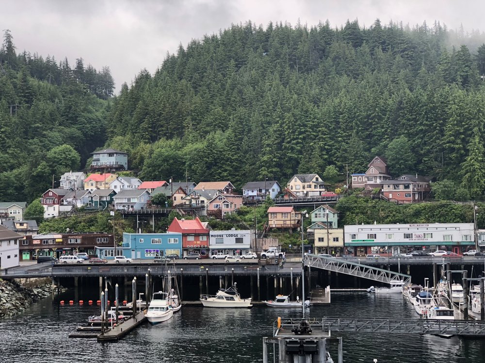 Ketchikan has such a great look to it - so many colourful houses all perched on the edge of the sea, or on the edge of a mountain.