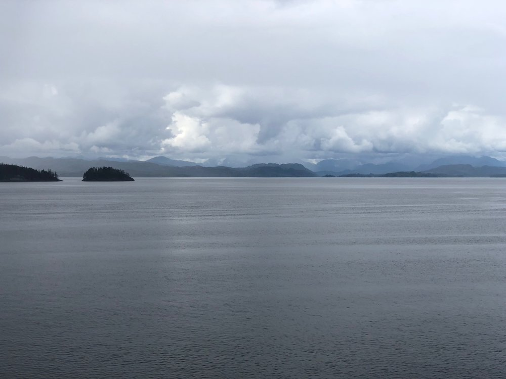 More typical scenery as we headed down near the top of Vancouver Island.
