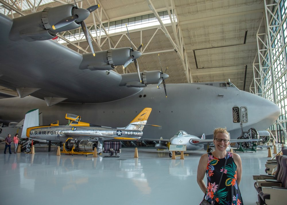 Justine and the Spruce Goose.
