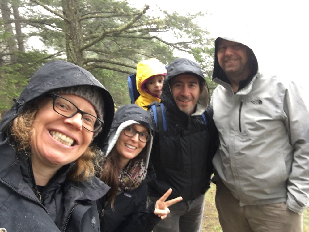 We also went for a hike in the rain.