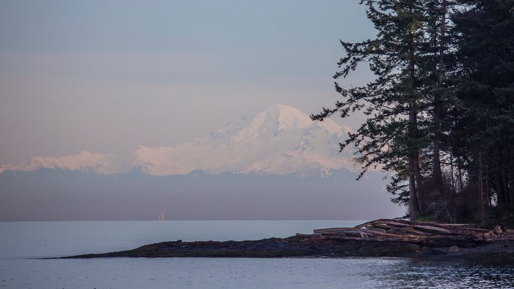 We had some fantastic views of Mount Baker.